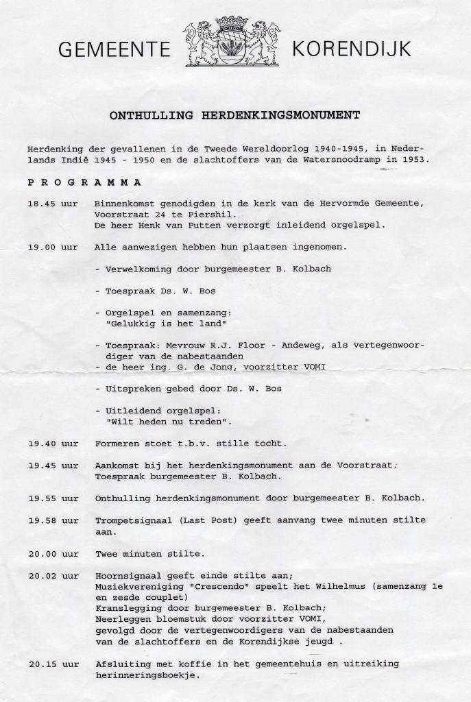 monument-korendijk-onthulling-programma