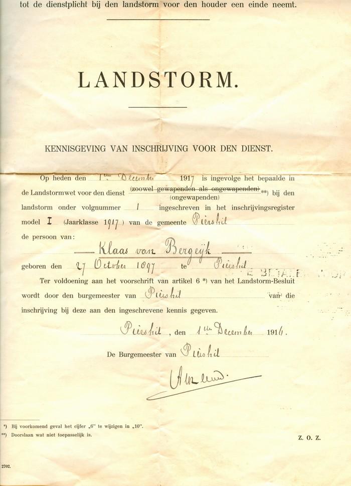 piershil-oorlog-klaasvanbergeijk-landstorm-1917
