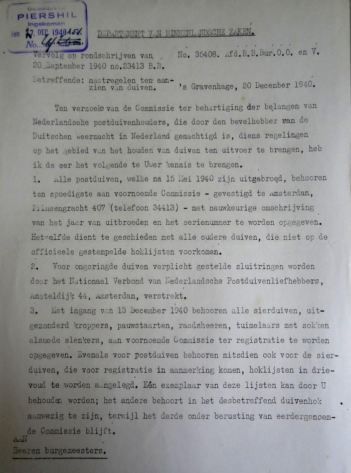 piershil-wo2-maatregelen-postduiven-december1940-01