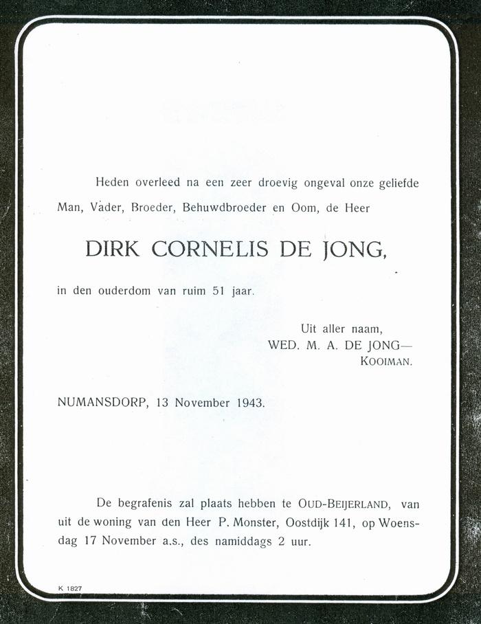 rouwkaart-dejong-1943
