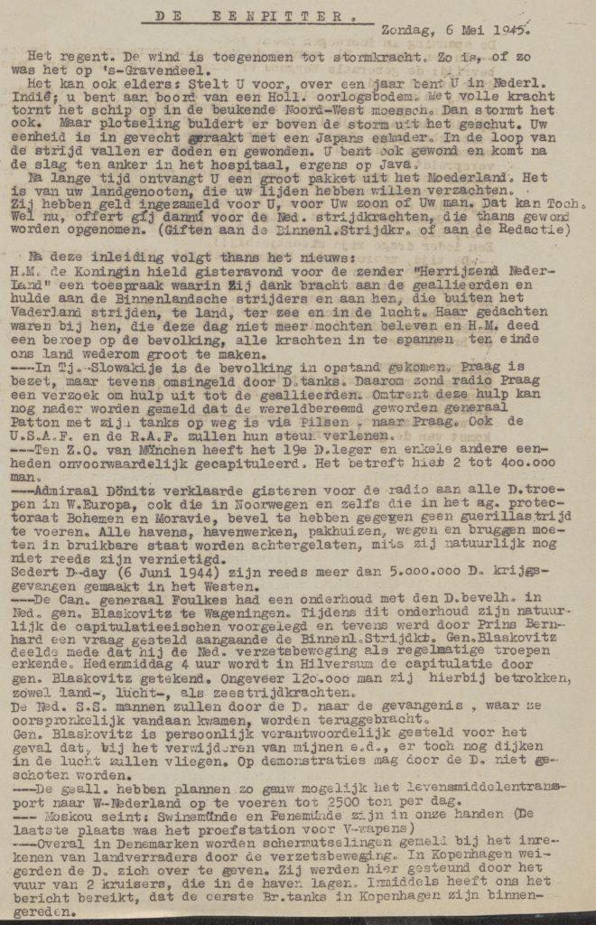 De eenpitter 06-05-1945