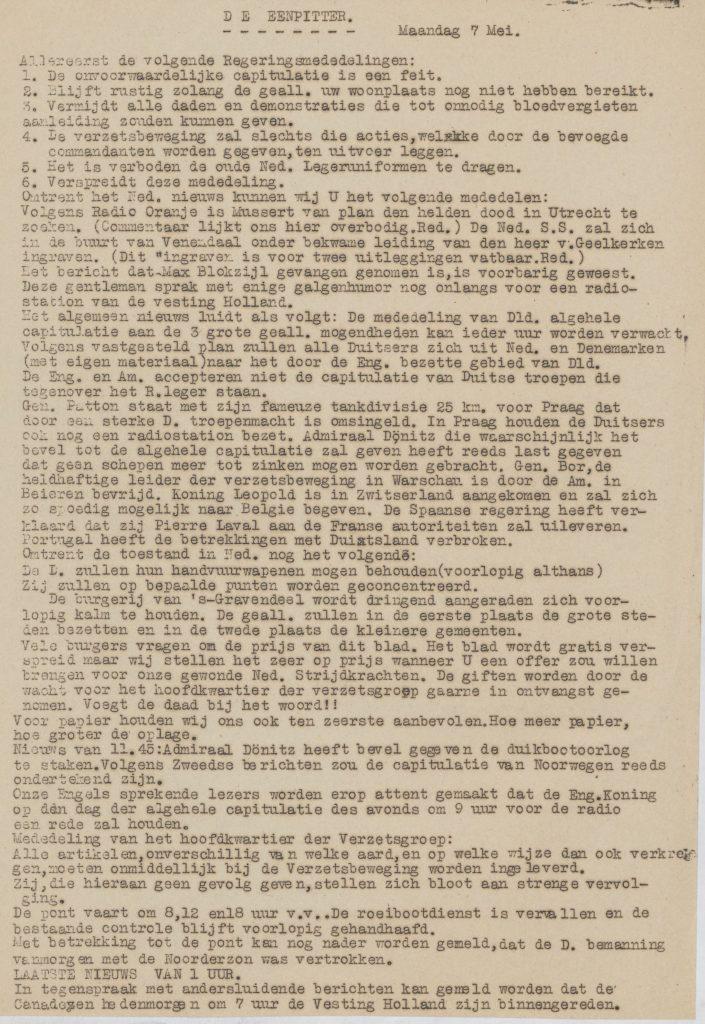 De eenpitter 07-05-1945