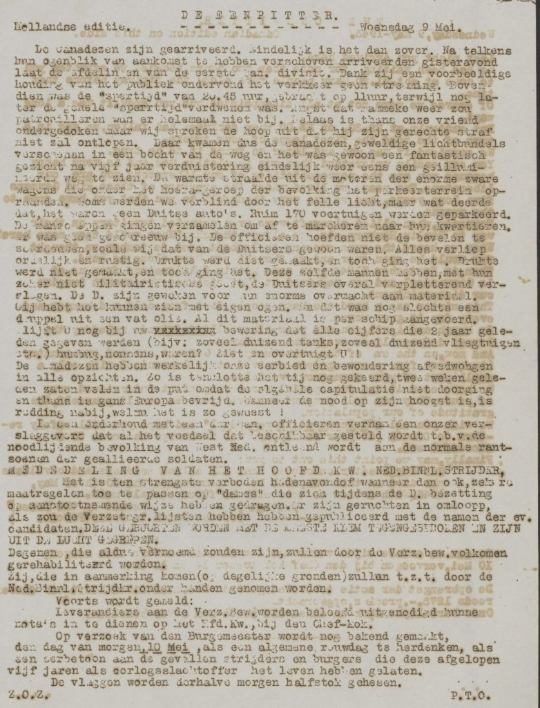 De eenpitter 09-05-1945