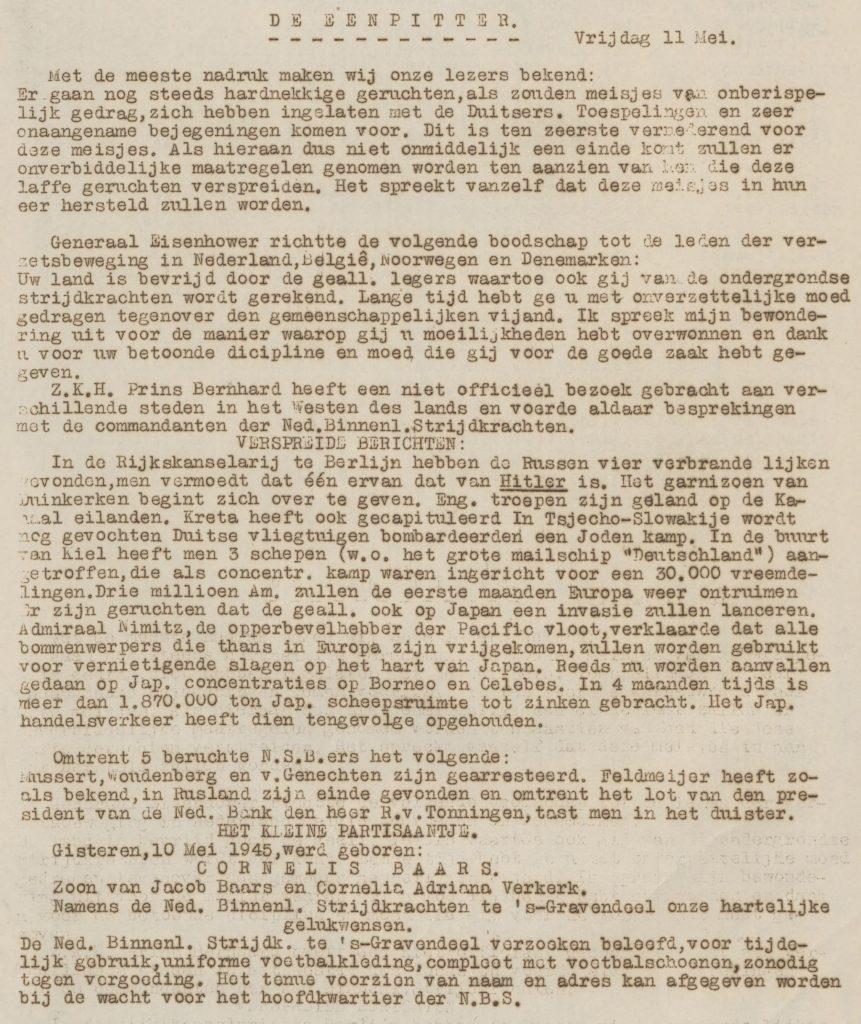 De eenpitter 11-05-1945