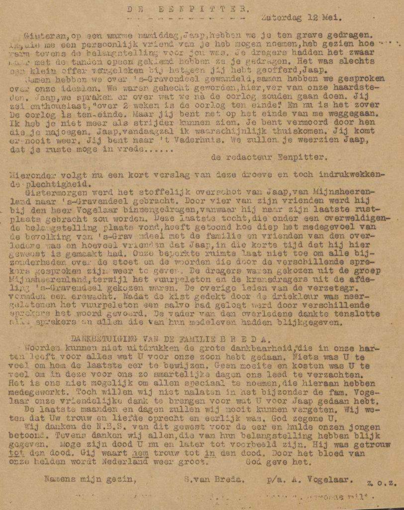 De eenpitter 12-05-1945