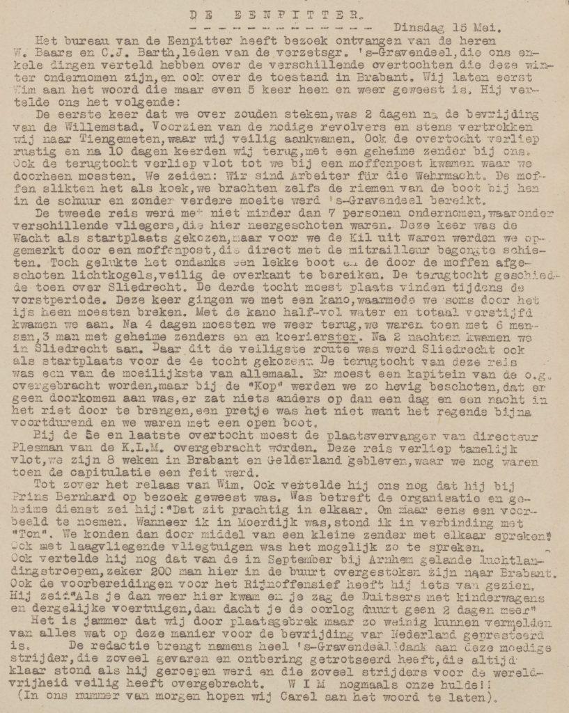 De eenpitter 15-05-1945