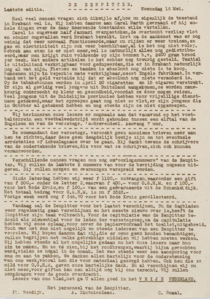 De eenpitter 16-05-1945