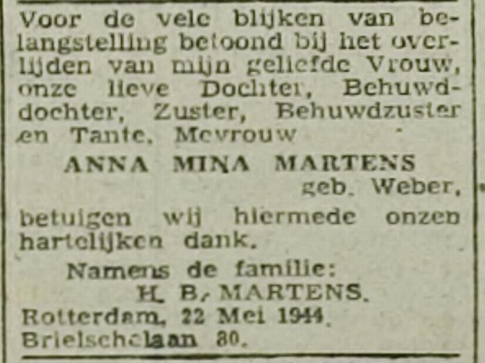 overlijdens-advertentie-rotterdamsch-nieuwsblad-22mei1944