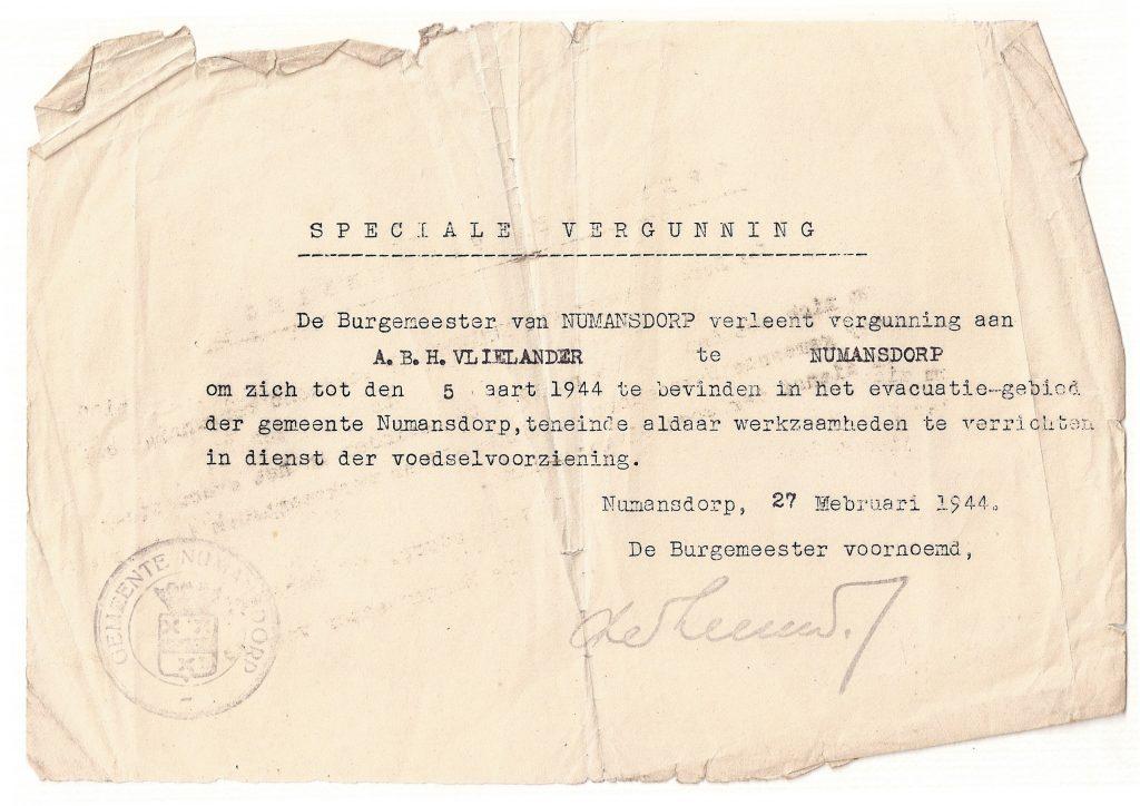 1944-vergunning-vlielander-numansdorp